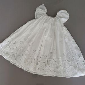 Tahari baby white dress 12-18mo